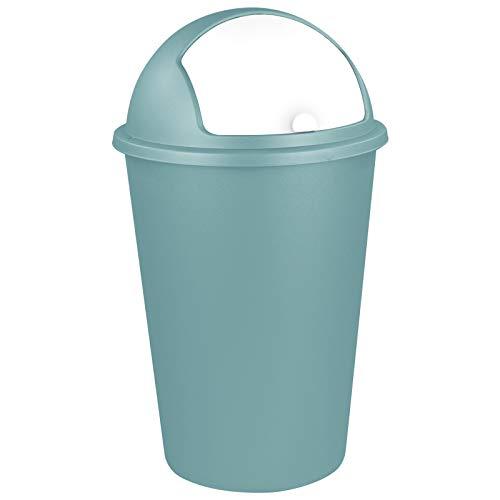 TW24 Abfalleimer 50L mit Farbauswahl - Kosmetikeimer - Mülleimer - Badezimmereimer - Abfallbehälter (Mint)