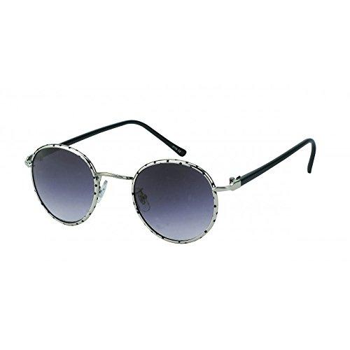 Lunettes de soleil Chic-Net lunettes Hommes de vélo lunettes teintées 400UV motif à carreaux Noir Argent Brown mpzwbkl