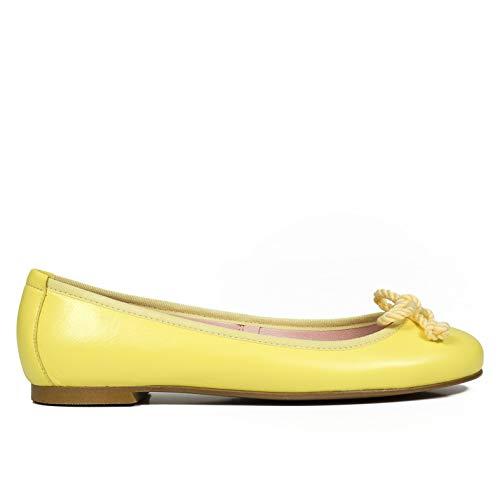 Bailarina Manoletina de Piel Amarillo