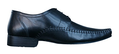 Red Tape Ching hommes en cuir Loafers / Chaussures Black