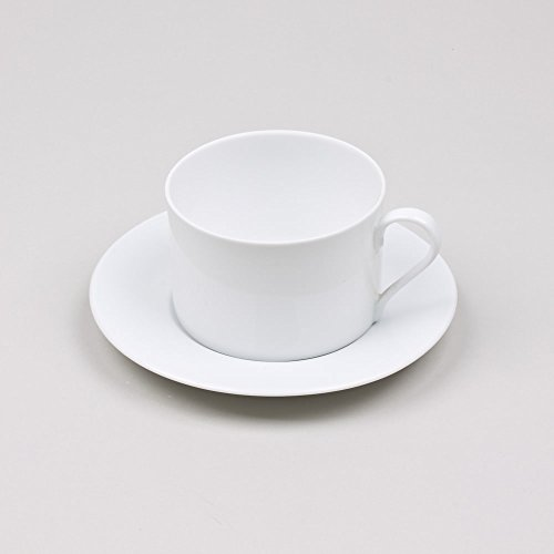 Table Passion - Tasse/sous tasse the 20cl porcelaine bl (lot de 6)