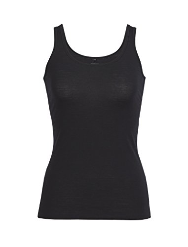 Icebreaker Damen Funktionsshirt Siren Tank, Black, L, 103213001 -
