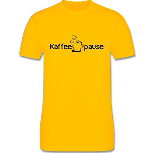 Küche - Kaffeepause - Herren Premium T-Shirt Gelb