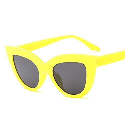 WZYMNTYJ Rose Gold Cat Eye Sonnenbrillen für Frauen Rosa Spiegel Shades Weibliche Sonnenbrille Schwarz Weiß Beschichtung
