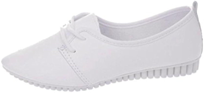 zapatos de mujer feiXIANG Elegante y cómodo pisos deslizarse en la comodidad zapatos planos mocasines PU 35-39...