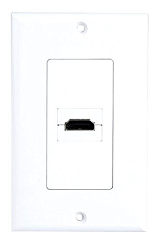Pyle 90Grad Home phdmiw1einzigen HDMI Exit Port-- Schwarz Dual Tv Wall Plate