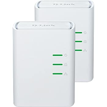 D-Link DHP-309AV Kit 2 Mini Adattatori PowerLine, Plug&Play, Risparmio Energetico fino al 70%, Supporto QoS, Bianco