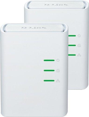 Foto D-Link DHP-309AV Kit 2 Mini Adattatori PowerLine, Plug&Play, Risparmio Energetico fino al 70%, Supporto QoS, Bianco