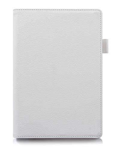 ISIN Tablet Fall Serie Premium PU-Leder Schutzhülle für Lenovo Yoga Tab 3 Plus und Lenovo Yoga Tab 3 Pro 10.1 Zoll Tablet Projektor mit Handschlaufe und Kartenschlitz (Weiß)