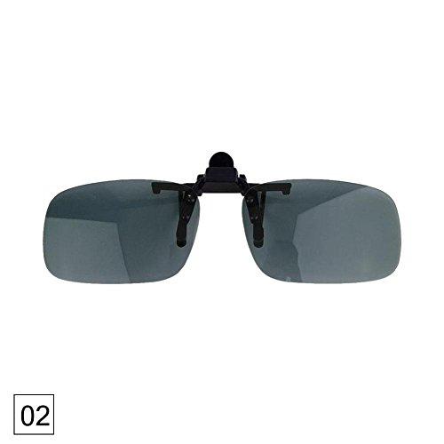 rungao Wechselrahmen Sonnenbrille HD Fahren Eyewear Sonnenbrille Nachtsicht Aufklappbare PC Linse,L grau