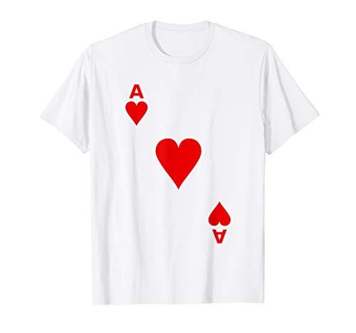 Kartenspiel Herz As Karte Shirt als Karneval - Kartenspiel Kostüm