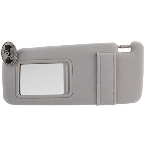 IAMAUTO 31679 New Sun Visor Left Driver Side Gray for 2007 2008 2009 2010  2011 Toyota Camry Without SUNROOF
