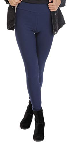 BeLady Legging Femmes Thermo à l'intérieur Avec Polaire Douce et Chaude, Noir Bleu marine Graphite Jeans (Bleu marine, 2XL - 44)