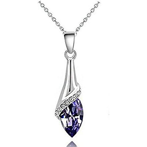 Gioielli di moda goccia pendente di cristallo delle donne del diamante della collana di s ' , 5