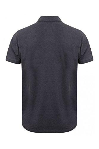 Tokyo Laundry Herren Blusen Poloshirt, Einfarbig Small Indigo Marl