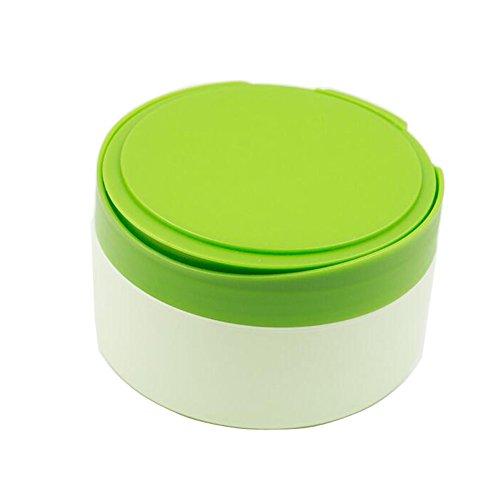 1Stück Grün Kunststoff leer Tragbare Refill Baby Haut Care after-bath Powder Fall Puff Talcum Make-up Aufbewahrung Halter Container dispensor mit Mehlsieb und Schwamm Puff