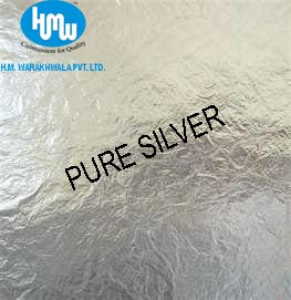HMW Imitation Silver Metal Leaf - 5 x 5 inch - 10 Sheets