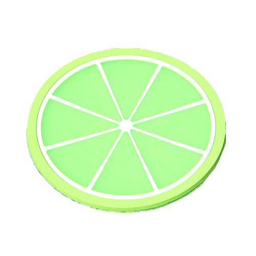 7per Silikon-Untersetzer, 7 Früchte Stil. Durchmesser: 9cm Grün orange 9cm Green Oval Dutch Oven