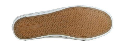 Katie - sportliche Damen Sneaker Schnürschuhe Turnschuhe LOW TOP aus Textil 36 37 38 39 40 41 Steine-Grau