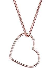 Elli Damen-Halskette mit Anhänger Herz 925 Sterling Silber 45 cm Silber