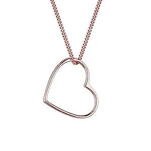 Elli Halskette mit Herz Anhänger Filigran Liebe in 925 Sterling Silber