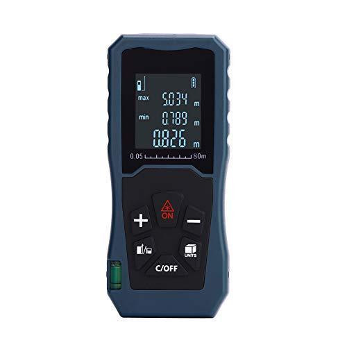 Laser Entfernungsmesser, 40m/60m/80m/100m Laser Entfernungsmesser mit Pythagoreanmodus, Messdistanz, Fläche, Volumenberechnung