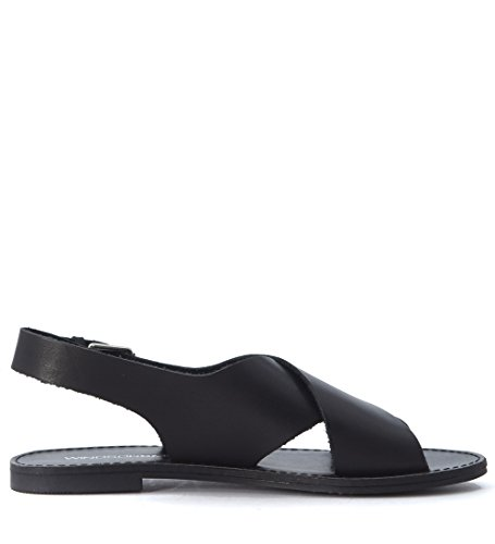 Sandalo Windsor Smith Banning in pelle nera Nero