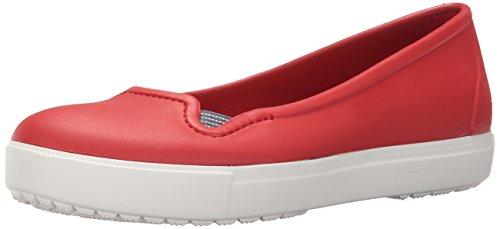 Crocs Citilane Flat W, Sabots Femme Rouge (Flame/White)