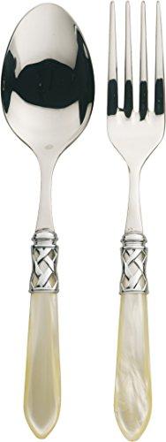 Bugatti alcam-n4211/12Aladdin 2-teilig Tafelservice, Edelstahl/ABS Elfenbeinfarben 30,5x 14x 3cm Pearl Serving Fork
