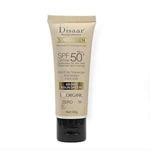 Heaviesk Crema de protección Solar para el Cuerpo Facial Bloqueador Solar PA +++ SPF 50+ Belleza Cuidado de la Piel Crema de Cobertura Protectora Hidratante Duradero