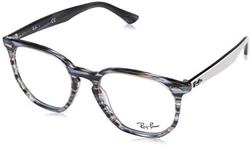Ray-Ban Unisex-Erwachsene 0rx 7151 5801 52 Brillengestelle, Blau (Blue/Grey Striped),