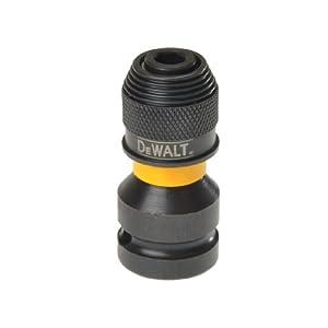 """31u4T%2Bq0 8L. SS300  - DeWalt DT7508-QZ DT7508-QZ-Adaptador para Llaves de Vaso de Impacto de 1/2"""" a 1/4"""", Amarillo/Negro, 5.1 cm"""