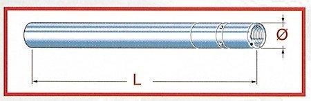 Tube plongeur de fourche pour gPZ 500 s entre 1999 et 2003 (chromé)