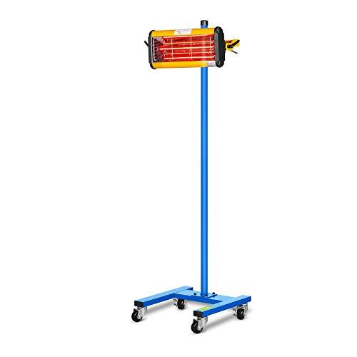 MSW Lacktrockner Infrarot Trockner Strahler IR-DRYER1000 (1100 W, 1 Strahler, 40-100 °C, Trocknungsfläche 800 x 500 mm, Timer 1-60 min) -
