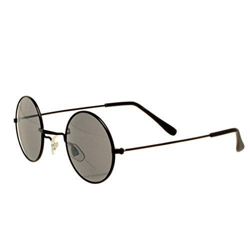Accessoryo - überdimensionalen schwarzen runden John Lennon-Sonnenbrille