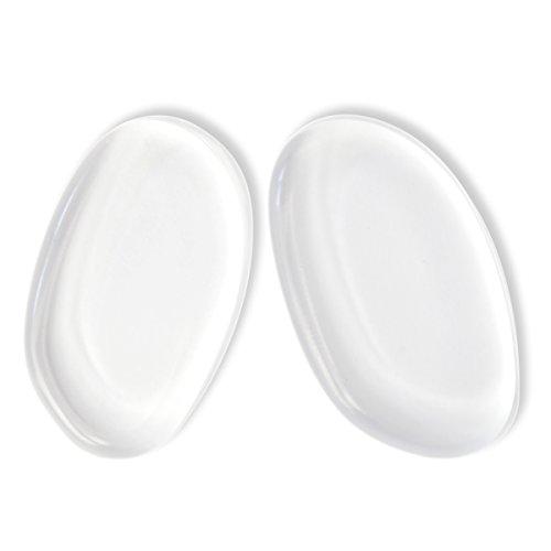 Silicone de Haute Qualité Maquillage éponge Beauty Blender Lot de 2 Outil de Cosmétique Convient pour gel et fond de teint, Correcteur, BB Crème et sérum.