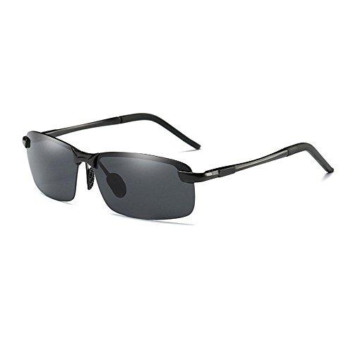 AOLVO Polarisierte Sonnenbrille für Herren, Sportsonnenbrille, UV400-Schutz, unzerbrechlich, leicht, Metallrahmen für Sport, Angeln, Autofahren F