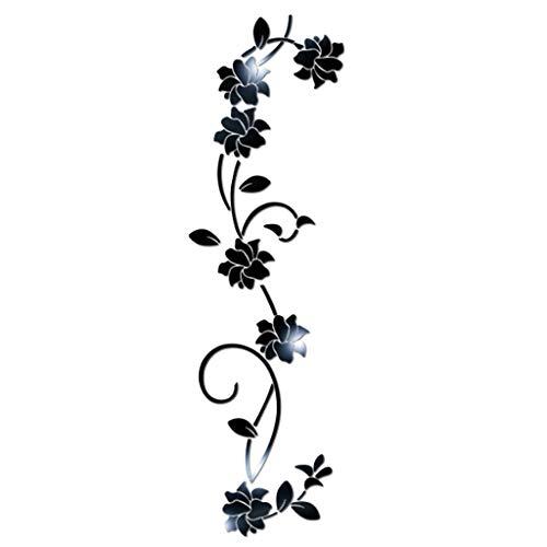 Huaya DIY Blume Gestalten Acryl Wand Aufkleber Modern Aufkleber Dekoration 3D
