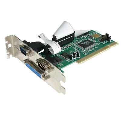StarTech.com 1 Port Parallel/2 Port Serielle PCI Schnittstellenkarte mit 16550 UART, PCI2S1P