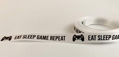 Eat Sleep Game Repeat Bedrucktes Band, - Fortnight Monopoly