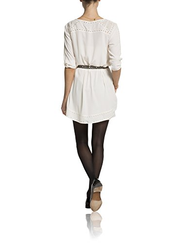 Scotch & Soda Maison Damen Kleid 15240888712, Midi Elfenbein (off white 03)