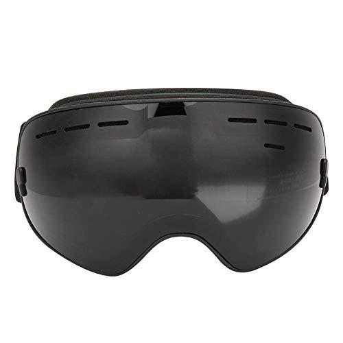 LAOOWANG Skibrille, Doppellagig PC Linse Antibeschlag Entspiegelt Ski Brille Groß Sphärisch Schnee Brille für Männer & Frauen - Schwarz