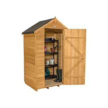 forest garden 4x3 apex security overlap garden shed dip treated