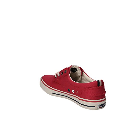 Tommy Jeans Textile Sneaker, Sneakers Basses Homme Rouge (Tango Red 611)