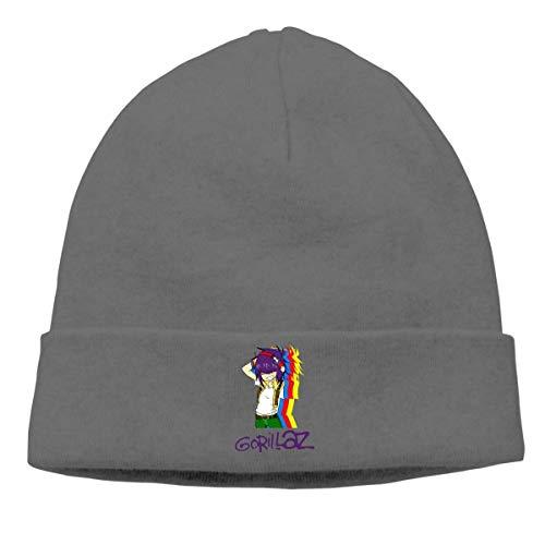 cebe54af9d1cd2 ASKYE Unisex Gorillaz Cuffed Plain Skull Knit Hat Cap Snowboard Hat Black