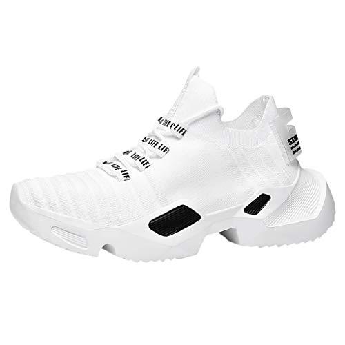 TWISFER Herren Laufschuhe Dämpfung rutschfeste Gewebte Atmungsaktiv Sportschuhe Outdoor Turnschuhe Leichte Sneaker