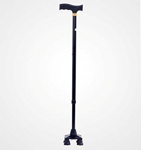 Alte Krücken Vierbeinige Walking Stick Teleskop Old Man Es Walking Stick Vierbeinige Zu Fuß Rutschfesten Kleinen Vierbeinigen Gehstock,Black