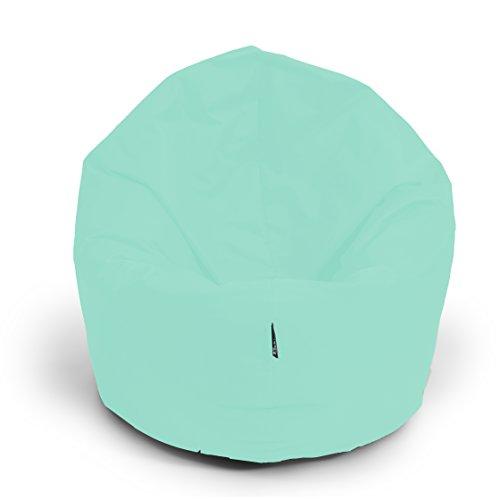 Sitzsack BuBiBag 2-in-1 Funktionen mit Füllung Pastellfarben Sitzkissen Bodenkissen Kissen Sessel BeanBag (85cm, pacific)