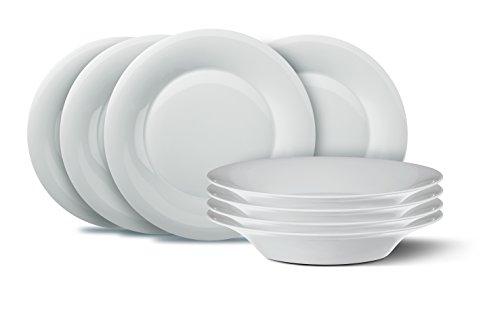 KPM Berlin Dinner-Set, Porzellan, Weiß, 8-teilig, in Geschenkverpackung