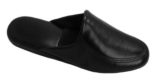 Leichte Herren Pantoffeln mit weicher Sohle, Gr.40-46,schwarz Schwarz
